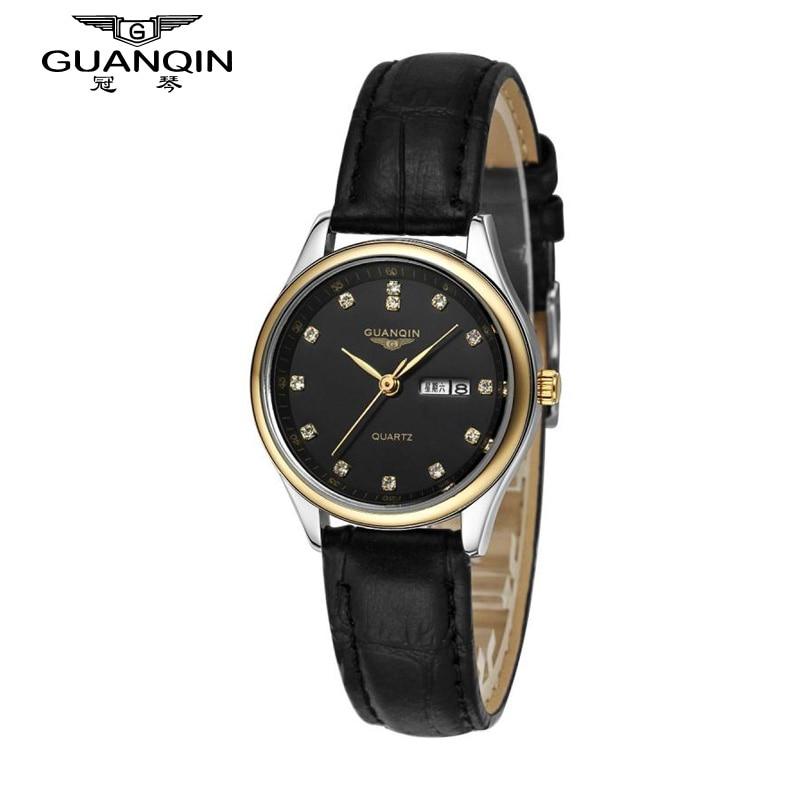 ФОТО GUANQIN Watch Woman Sport Fashion Luxury Brand Watch Women Diamond Quartz Watch Dress Waterproof Sapphire Cheap Ladies Watches