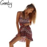 Hurtownie Afryki Sukienka Kobiety Backless Beach Dress Wakacje Sukienka Bez Ramiączek Sexy Suknia Balowa Hippie Boho Chic Dress Vestido