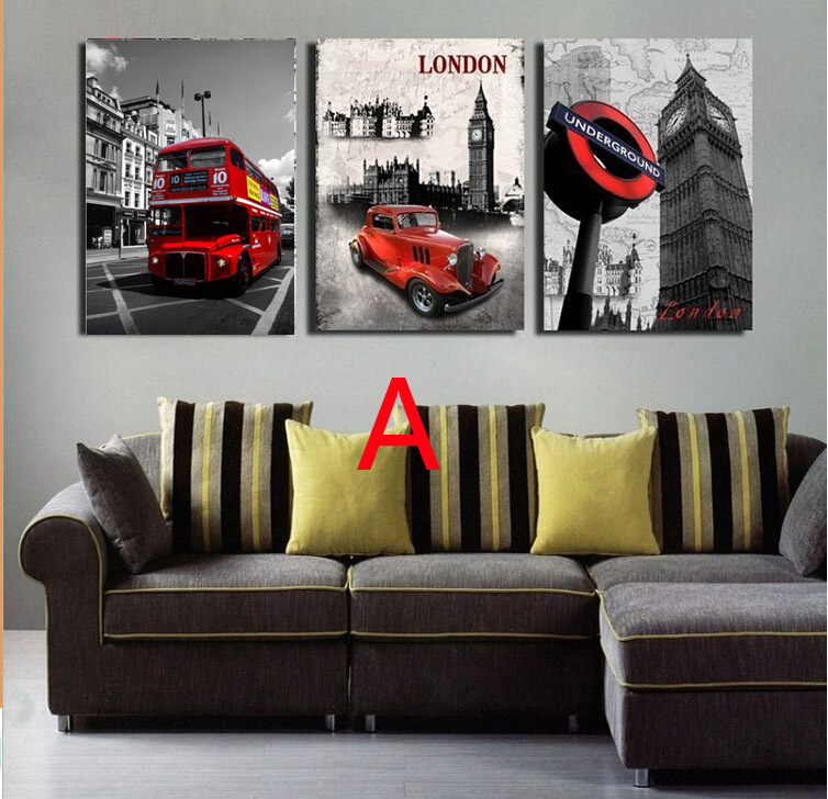 Modern Wall Painting London city scenery Home Decorative Art Picture Paint Canvas Prints 3 panels/set Printed - Online Store 812502 store