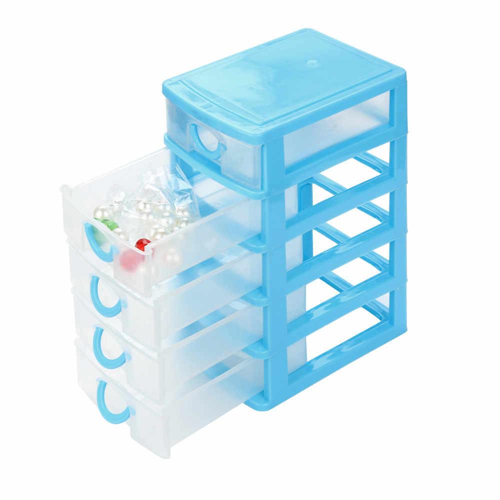 Venda quente Durável Plástico Mini Desktop Caixa de Artigos Diversos de Gaveta de Jóias Pequenos Objetos Mais Novo de Maquiagem Recipiente De Armazenamento Organizador