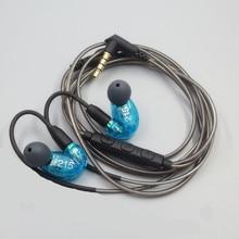 DIY MMCX SE215 zestaw słuchawkowy Hifi słuchawki douszne słuchawki z redukcją szumów słuchawki basowe MMCX dla Shure dla IPhone Xiaomi Samsung
