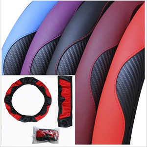 Image 5 - 100% Wear resistant Leather Universal Car Steering wheel Cover 36CM 39CM Car styling Sport Auto Steering Wheel Covers Anti Slip