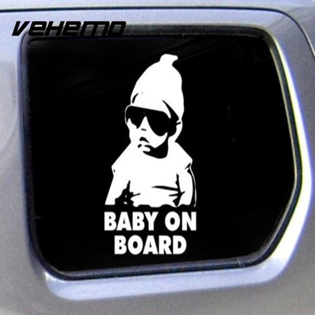 Vehemo cute hot girl baby on board funny truck window car sticker auto truck waterproof decals