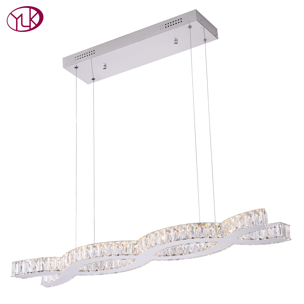 Youlaike Modern LED Chandelier For Dining Room Creative Kitchen Island Suspension Hanging Lamp Lustres De Cristal