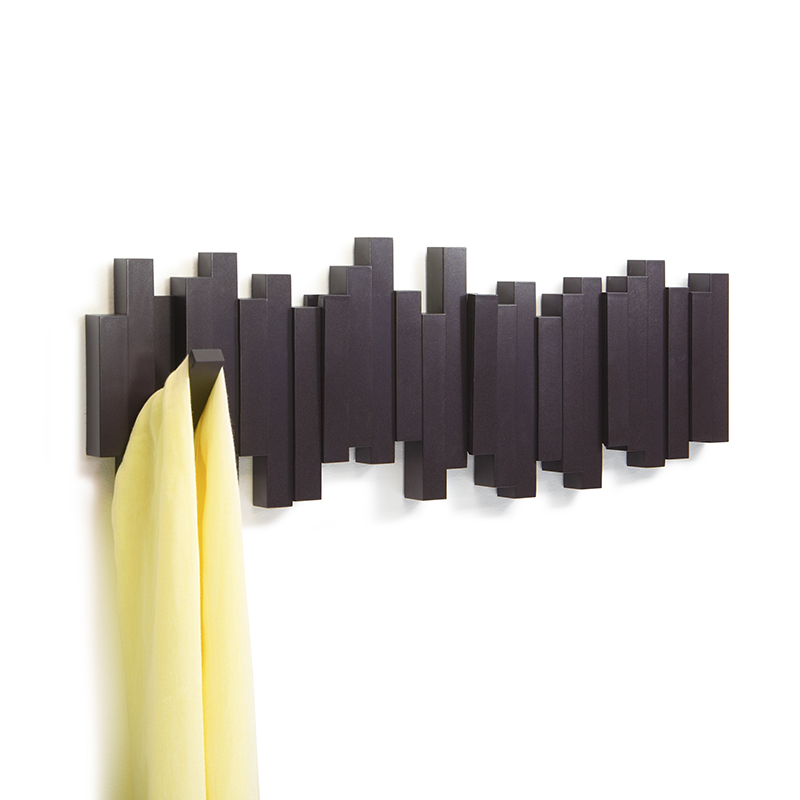 Gancho creativo detrás de la pared percha Sala decoración fila de ganchos