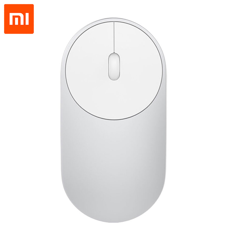 Original Xiaomi Mouse Bluetooth 4.0 Portable Wireless 1200dpi Optical Mouse Mini 2.4GHz Dual Mode Connect For Xiaomi Mi Notebook mi portable mouse gold