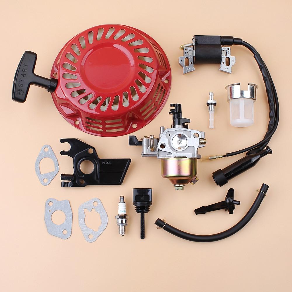 Kit de filtre de Joint de carburant de bobine d'allumage d'isolateur de carburateur de démarreur de recul pour Honda GX160 GX200 168F tondeuse de générateur de moteur à gaz