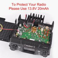 dual band vhf uhf Ham נייד רדיו משדר VHF UHF Mobile Radio Dual Band Quad המתנה משדר רכב עם תכנות Cable & Software (5)