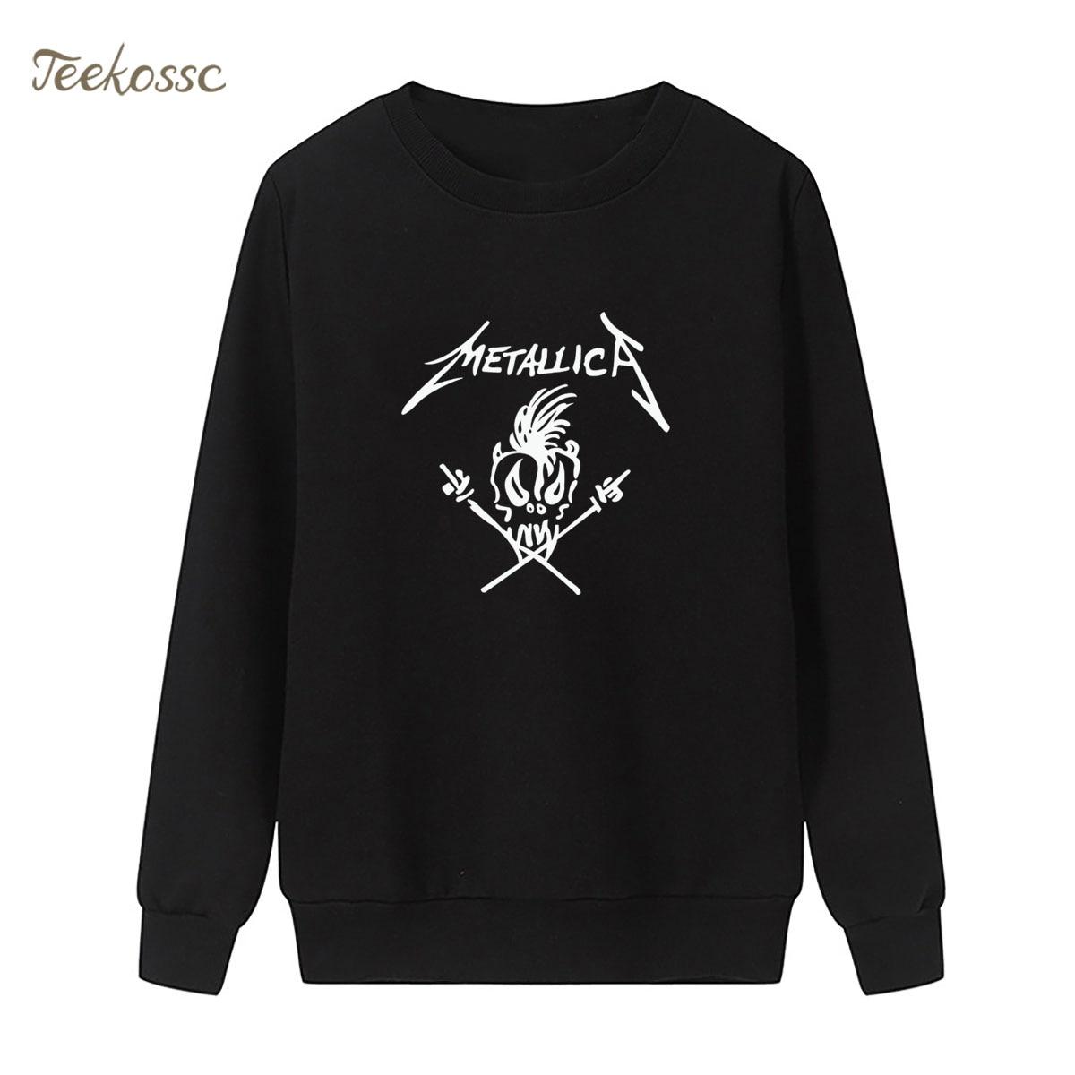 Band Punk Rock Sweatshirt Print Hip Hop Hoodie 2018 Winter Autumn Women Lasdies Pullover Loose Fleece Streetwear Brand Clothing