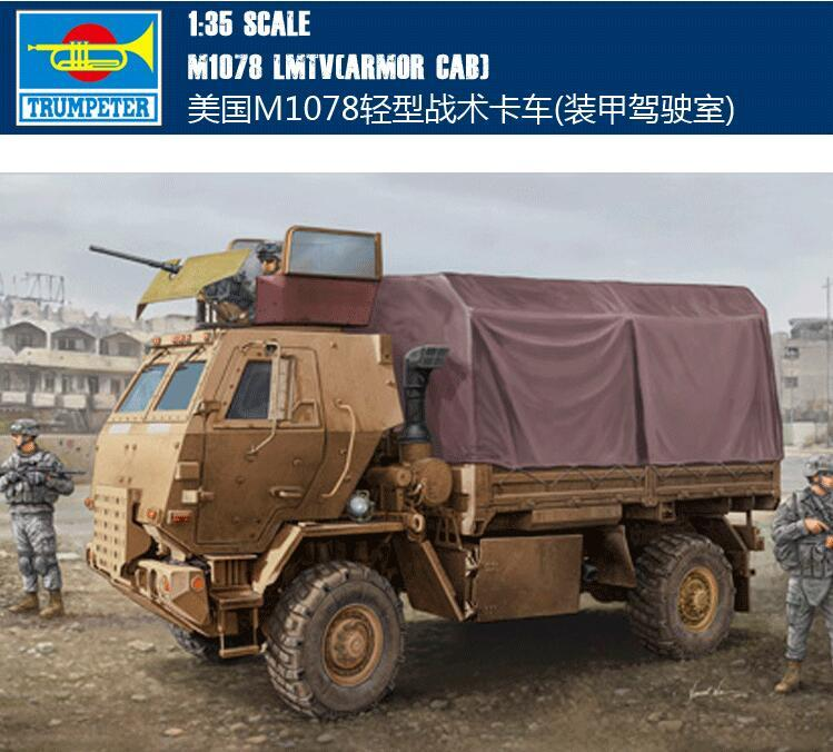 Trumpet 1/35 American M1078 Light Tactical Truck (armored Cab) 01009 Assembly Model Building Kits Toy стоимость