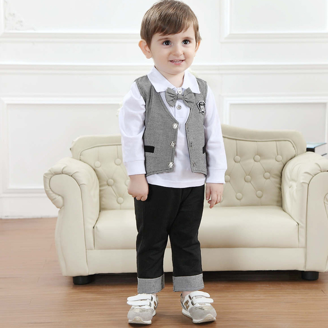 a0cd7dc28cb2 2016 new fashion baby boy clothing set spring brand wedding suit ...