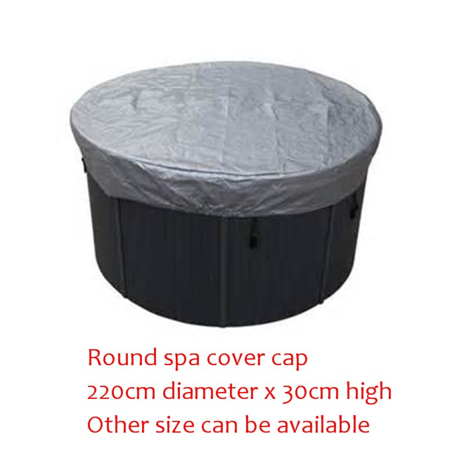 ROUND spa cover cap bag 220cm diameter x 30cm high Other Size can be available other spa