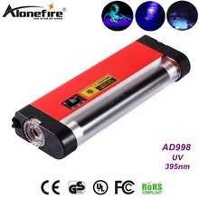 AloneFire AD998 4 W Ultra violet luz Travel Money Passaporte ID Moeda UV Detector Lâmpada luz Branca lanterna AA Seca bateria(China)
