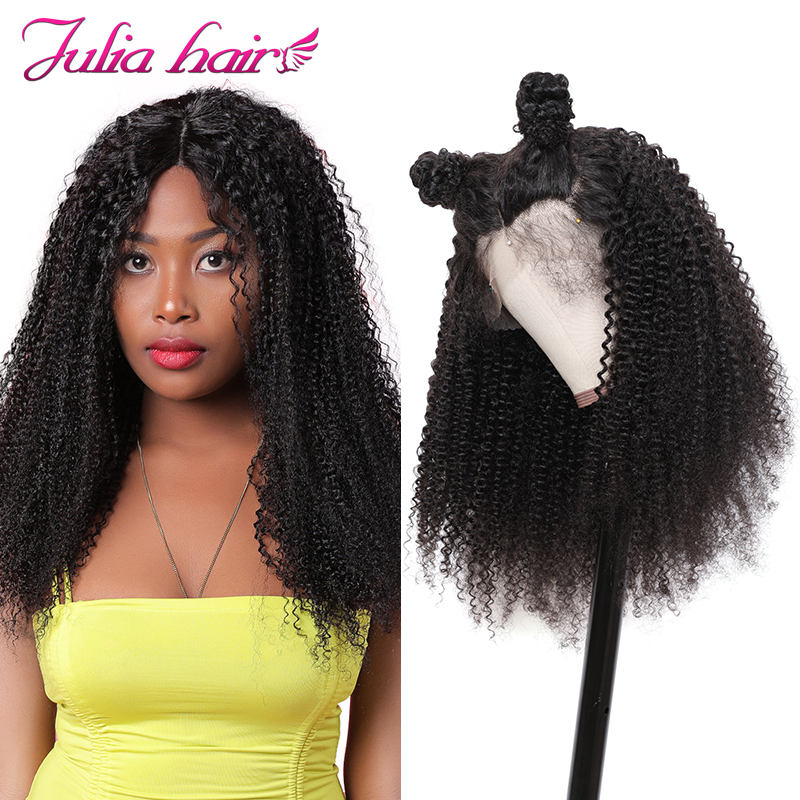 Ali Julia Hair13 6 Lace Front Wigs Brazilian Remy Human Hair Afro Kinky Curly Wig For