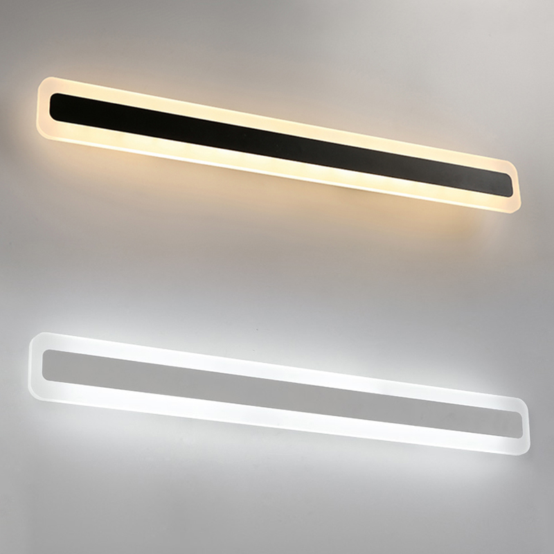 0 4 1 2m Black White Modern Acrylic LED Wall lamp For Bedroom Bathroom Mirror Bedside