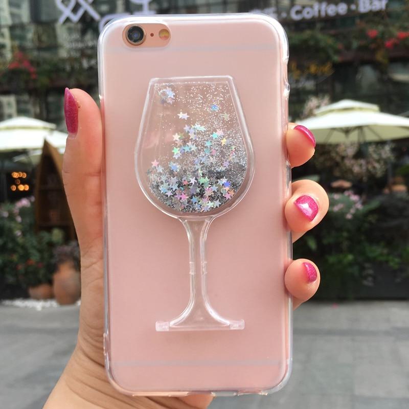 Glitter Liquid Case for Cubot Max Magic R9 H3 Power R11 Hafury Mix Nova P20 X19 Wine Glass Silicone Soft Phone Case Cover(China)