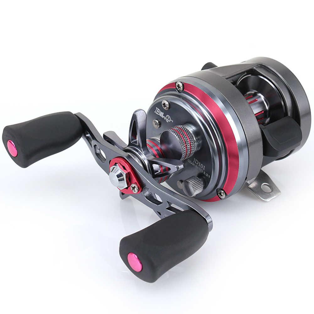 DEUKIO moulinets de pêche JD100-301 métal 7 + 1BB acier inoxydable CNC tambour roue carbone ronde appât coulée roue de pêche matériel Pesca