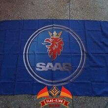 Saab логотип автомобиля флаг, saab гонки 90*150 см полиэстер баннер, флаг король Марка может на заказ