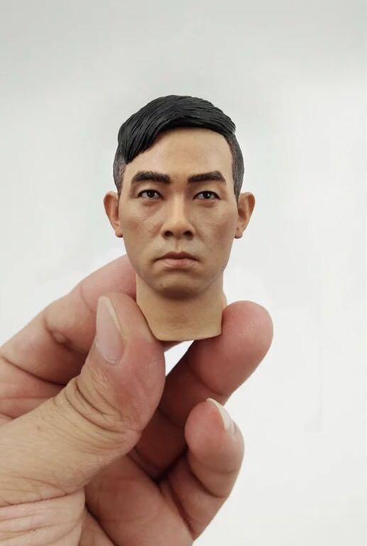 цена на Mnotht 1/6 Scale Chinese Male Head Sculpt Jordan Chan Youth and Danger Man Soldier Model for 12in Body Action Toy Figures