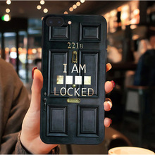 Sherlock Holmes in Door 221B black Soft silicone Phone Case For iPhone 6 6s 7 8 Plus X 10 XS MAX XR For Samsung S7 S8 S9 S10 phone camera lens 9 in 1 phone lens kit for iphone x xs max 8 7 plus samsung s10 s10e s9 s8