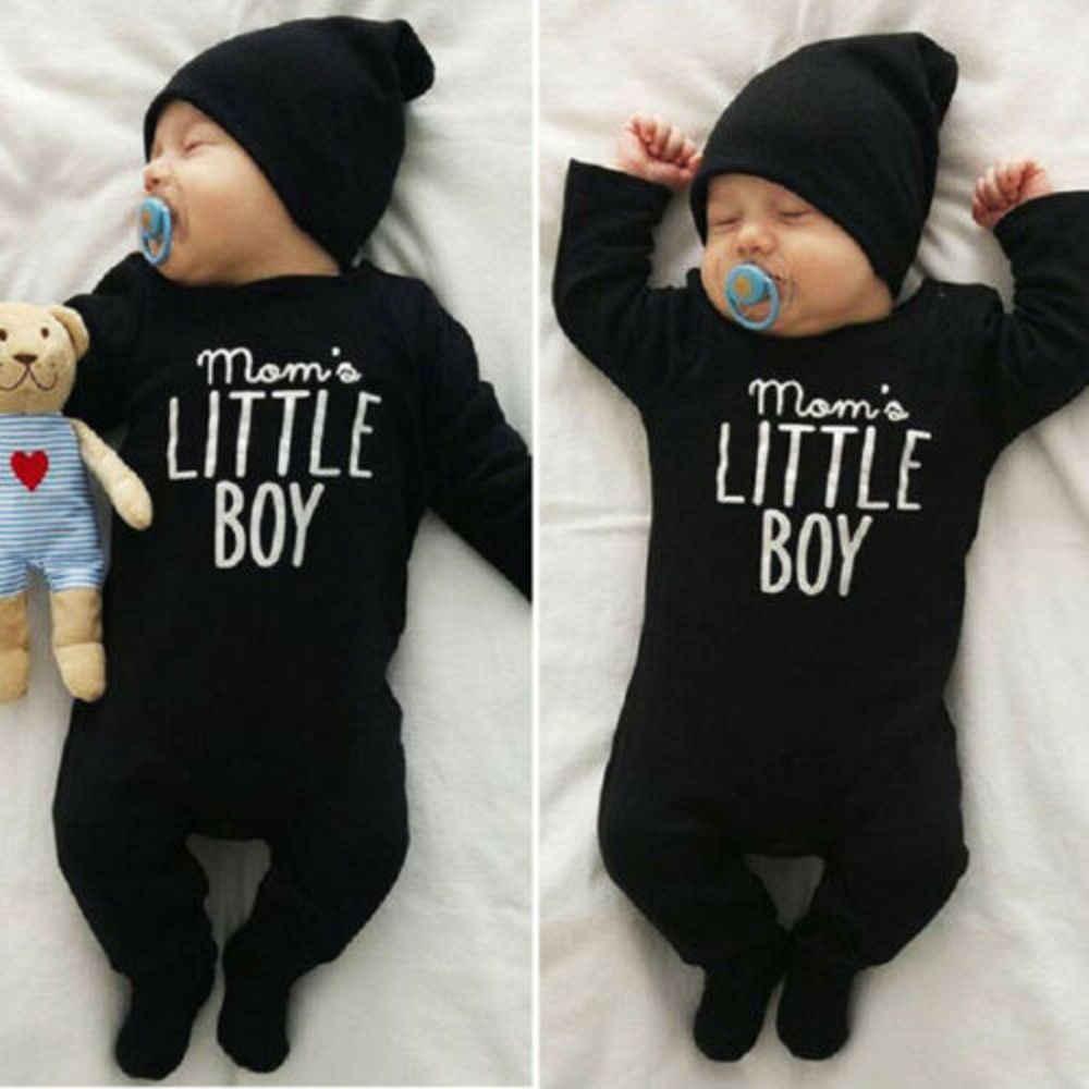 Infantil do bebê menino recém-nascido clohting conjunto momo menino carta macacão meninos meninas algodão macacão roupa 0-24 meses