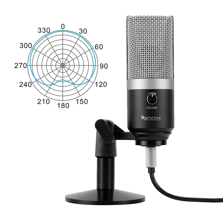 FIFINE a micrófono USB para ordenador portátil Mac y computadoras para grabación de Streaming Twitch voz off Podcasting para Youtube Skype K670 - 2