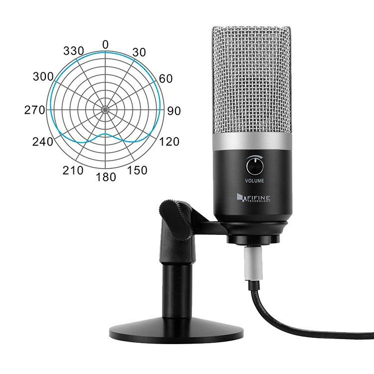 FIFINE microphone usb pour Mac ordinateur portable et Ordinateurs pour Enregistrement Streaming Contraction Voix off Podcasting pour Youtube Skype K670 - 2