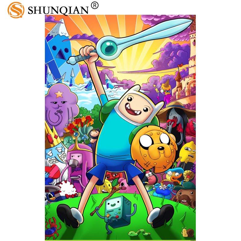 Новое поступление время приключений плакат мультфильм Шелковый плакат пользовательских плакаты для детей более размер 27x40 30x45 40x60 50x75 60x90