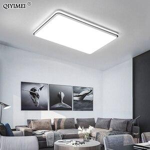 Image 3 - 새로운 현대 LED 천장 조명 거실 원격 제어 디 밍 다이닝 룸 침실 화이트와 블랙 조명 조명