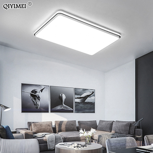 Image 3 - New Modern LED Ceiling Lamps For Living Room Remote Control Dimming For Dining Room Bedroom white and black lighting Lights