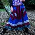 Nova Primavera Roupas Patch Original Eólica Nacional das Mulheres Bordados Calças de Algodão Calças Baixas Virilha Calças da Palavra Calças Saia