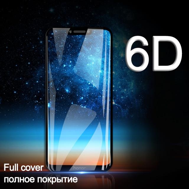 Funda completa de vidrio templado 6D para Huawei Honor 10 Lite 8X9 Nova 3 vidrio de seguridad en Honor 8X v20 P smart 2019 Y9 Protector de pantalla