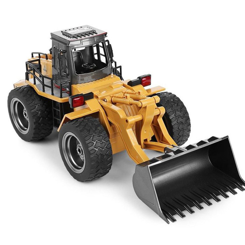 1/18 Scale 6 Channel RC Truck Car Model Toy Children Charging Remote Control Engineering Car Kid Bulldozer Toys Fun Gift Yellow