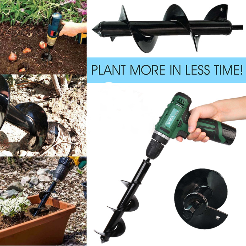 Home Garden Earth Land Digging Holes Tool Drill Bit Farm Planting Auger Digging Spiral Bit For Electric Cordless Drill 4/5/8CM