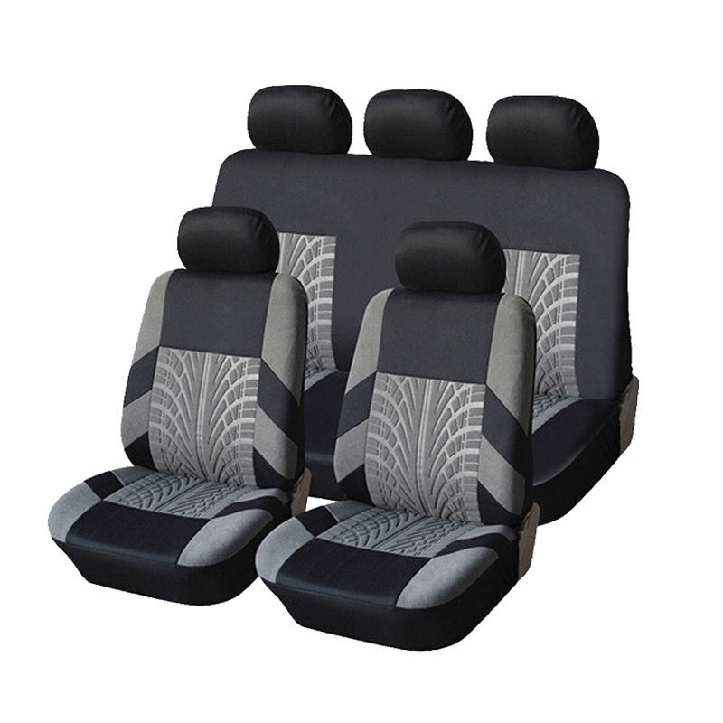 kopoha mex Brand Embroidery Car Seat Covers Set Universal Fit Most Cars Covers with Tire Track Detail Styling Car Seat Protector