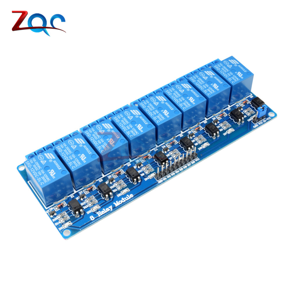 DC 12V 8 Channel Relay Module with Optocoupler for Arduino UNO Mega 2560 1280 ARM PIC AVR dc 12v 8 channel relay module with optocoupler for arduino uno mega 2560 1280 arm pic avr