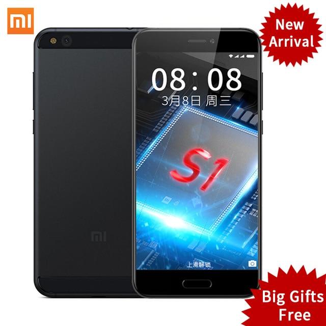 """Original Xiaomi Mi5c Mi 5C Smartphone 3GB RAM 64GB ROM 5.15"""" Pinecone S1 Octa Core 1920x1080 Fingerprint ID MIUI 8 Fast Charge"""