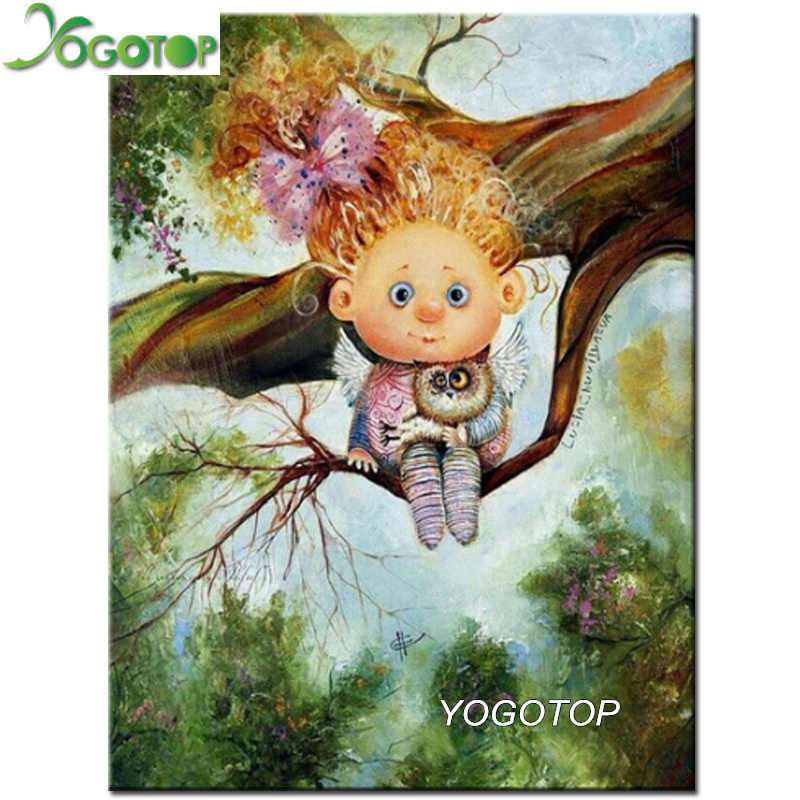 YOGOTOP Diamond Painting Cross Stitch 5D Diamond Embroidery Cartoon angel Diamond Mosaic Home Decor DIY diamond art VD381