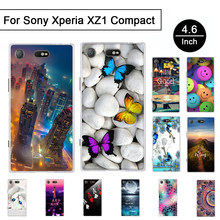 Cover For Sony Xperia XZ1 Compact G8441 Soft Silicone Case For Sony Xperia XZ1 Mini G8441 TPU Back Phone Shells Print Fundas Bag(China)