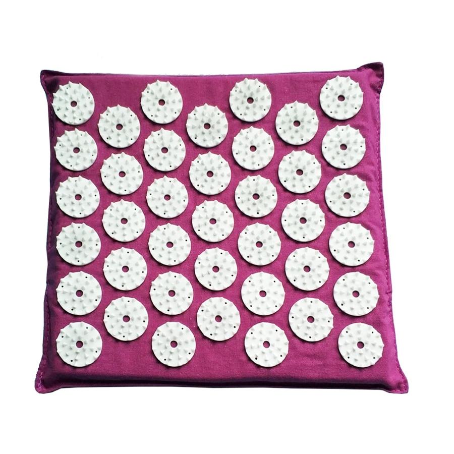 Square Massage Cushion Acupressure Mat Relieve Stress Pain ...