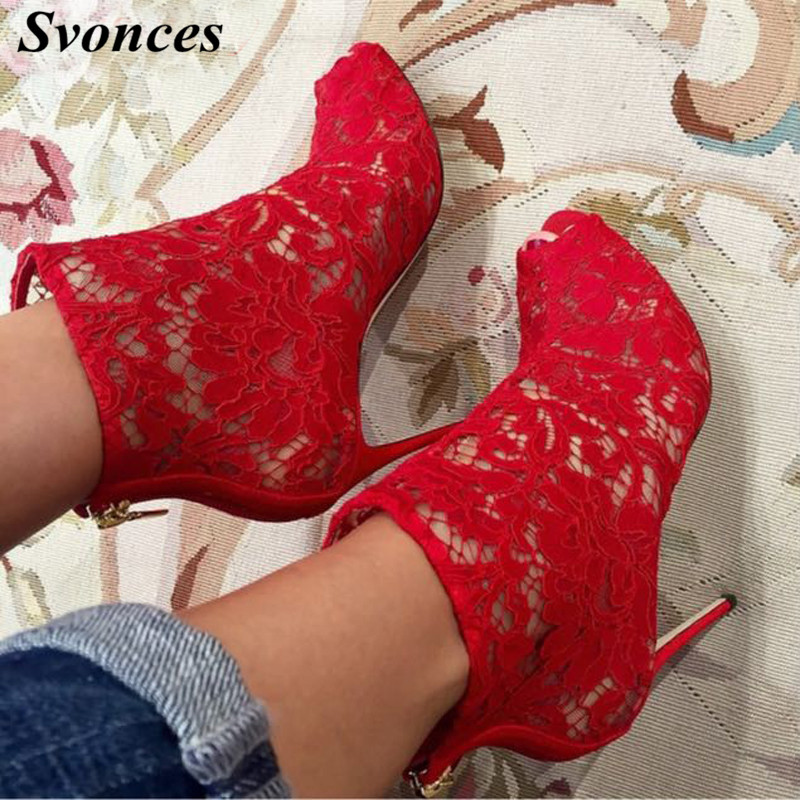 2018 New Lace Lace High Heel Round Sexy Sandals Wedding Meat Color Mesh And Wedding Dress Shoes Ladies Buy One Give One High Heels