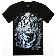 Fashion Tiger Animal Mens 3D Printed T shirts Free Shipping S XXL O Neck Summer Tops