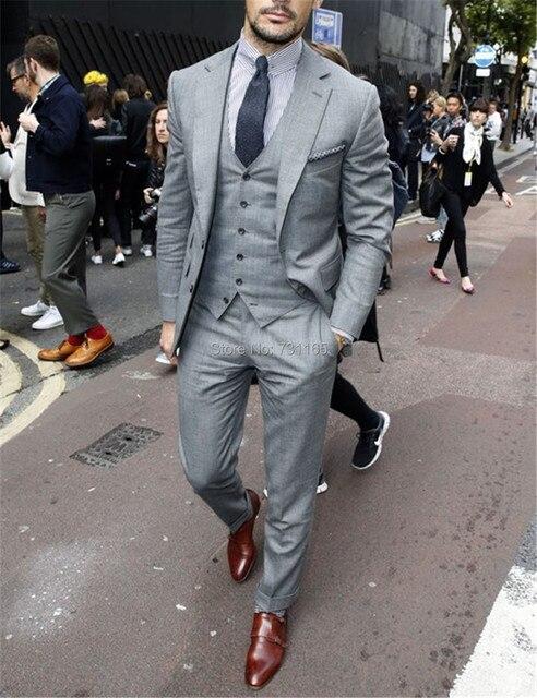 Новая Форма Slim Fit Жених свадебный костюм жениха Смокинги Для Мужчин Новый 2016 Дизайн Мужчины Blazer свадебные костюмы 3 шт.