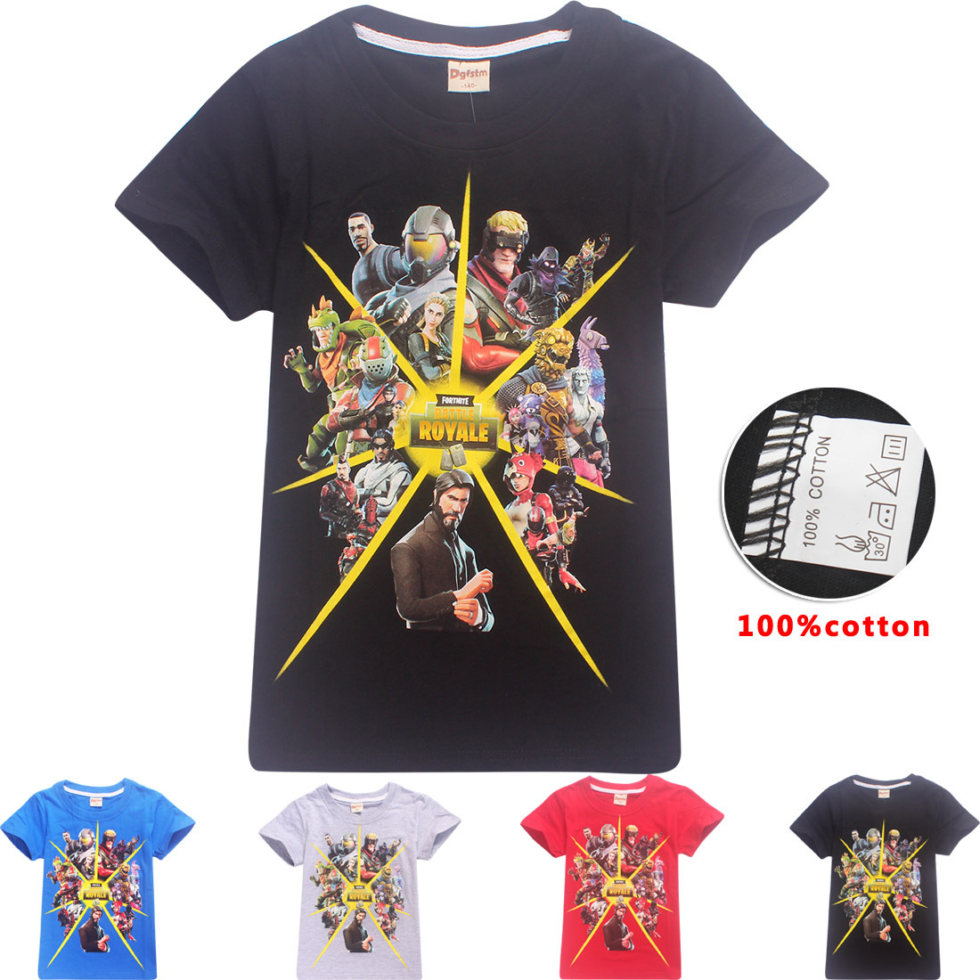 Z&Y 6-14Years Tiny Cottons 2018 Summer Fortnite Shirt Kids Shirts Boys T-shirt Teenage Clothes Teen Titans Go Funny Tshirt Nova