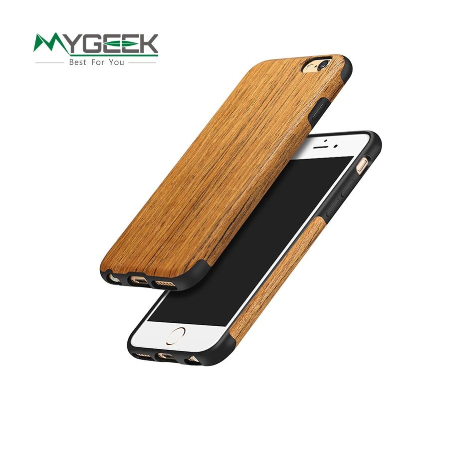 Wood Luxury Phone Case for iphone 7 5 5s SE 6 6s plus sonix Phone Case Protective Back Cover Original Design Element Series