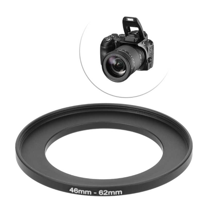 1 قطعة جديد 46 مللي متر إلى 62 مللي متر المعادن تصعيد خواتم محول العدسة تصفية كاميرا الملحقات أداة
