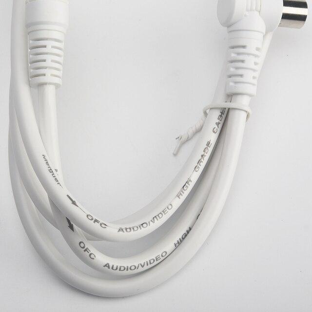 1.5 m/59.06 pouce HD pour antenne de télévision haute définition câble vidéo numérique haute qualité TV/M-TV/STB ligne de télévision
