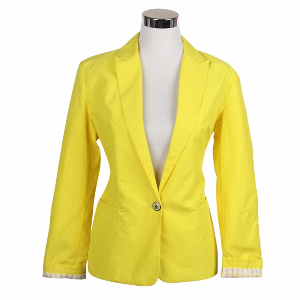 Global explosion models one buckle female jacket European style candy-colored suit jacket Slim Jacket Women