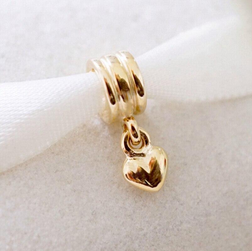 Suspendus Coeur D'amour Charms Convient pandora Bracelet Constatations Charmes, Charme Balancent Pendentif, Bijoux De Mode D'origine perles DIY