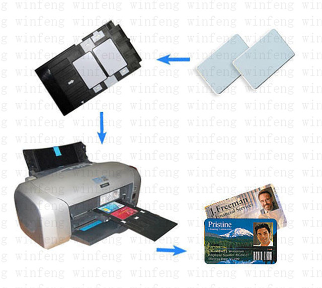 Winfeng Printable Blank Inkjet PVC Cards 13.56MHZ NTAG215 NFC Card Tag Writable Inkjet Blank PVC Card For Canon Epson Printer
